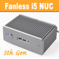 "Fanless Intel ""Broadwell"" NUC Core i5 PC, 4GB DDR3, 120GB SSD [D5NU1-i5]"