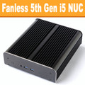 "Fanless ""Broadwell"" NUC Core i5 PC, 4GB DDR3, 120GB SSD [Newton-S-RY-i5]"