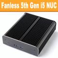 """Fanless """"Broadwell"""" NUC Core i5 PC, 4GB DDR3, 120GB SSD [Newton-S-RY-i5]"""