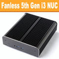 "Fanless ""Broadwell"" NUC Core i3 PC, 4GB DDR3, 120GB SSD [Newton-S-RY-i3]"