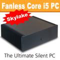 Ultimate Fanless Mini-ITX PC, Core i5 Skylake, 8GB DDR3, 120GB SSD [ASUS H170i]