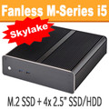 Fanless M-Series PC Skylake Core i5 6500T, 8GB, 120GB SSD  [M-H170i-PRO]