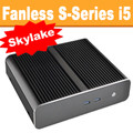 Fanless S-Series PC Core i5 6400T, 8GB, 120GB SSD, Dual LAN [ASUS Q170T]