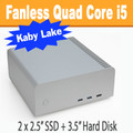 "Fanless FC8-Series PC Core i5 7500T Kaby Lake, 8GB, 250GB SSD, 3.5"" HDD Option [ASUS Q170T]"