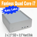 "Fanless FC8-Series PC i7 7700T Kaby Lake, 8GB, 250GB SSD, 3.5"" HDD Option [ASUS Q170T]"
