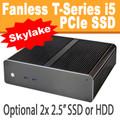 Fanless T-Series PC Core i5 6400T, 8GB,  256GB PCIe SSD [ASUS Q170T]