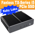 Fanless TX-Series PC Core i5 7500T Kaby Lake, 8GB,  256GB PCIe SSD [ASUS Q170T]