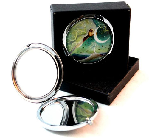 Moon Goddess Compact Mirror