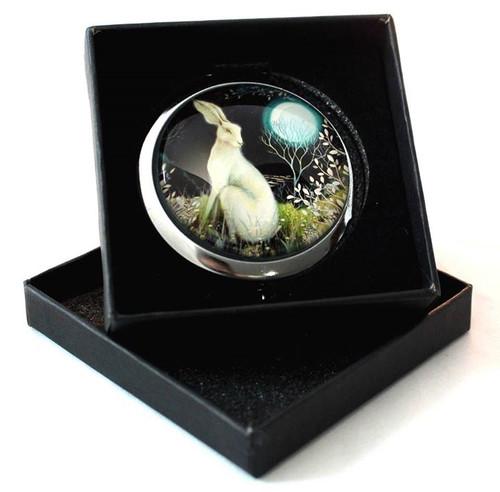Hare & Full Moon Compact Mirror