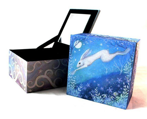 Moonlit Hare Leaping : Mirror Box