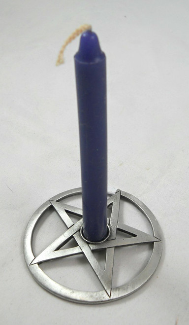 Pentacle Spell Candle Holder