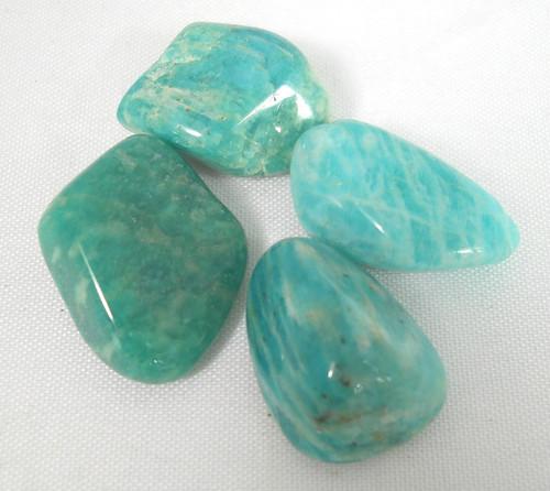 Amazonite Tumble Stones x4