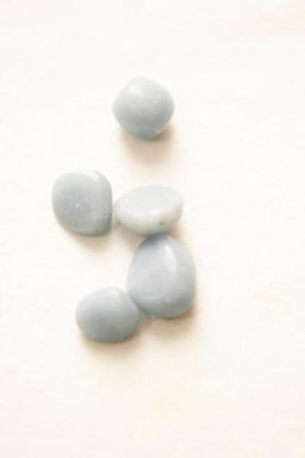 Angelite Tumble Stones x4