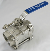 Three Piece Socket Weld Ball Valve