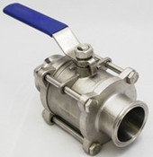 Three Piece Non-Encapsulated Clamp Ball Valve