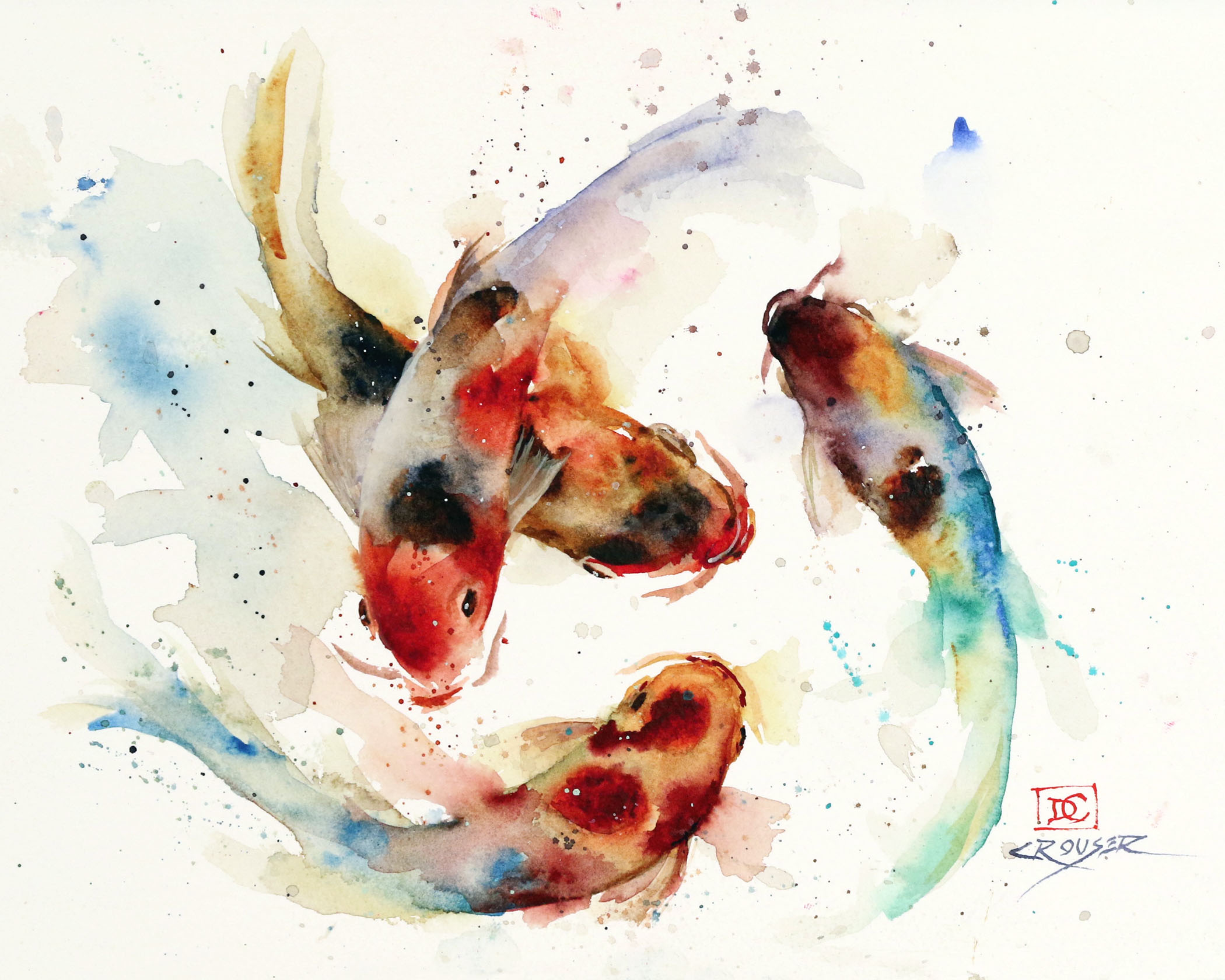 The art of dean crouser for Japanese fish painting