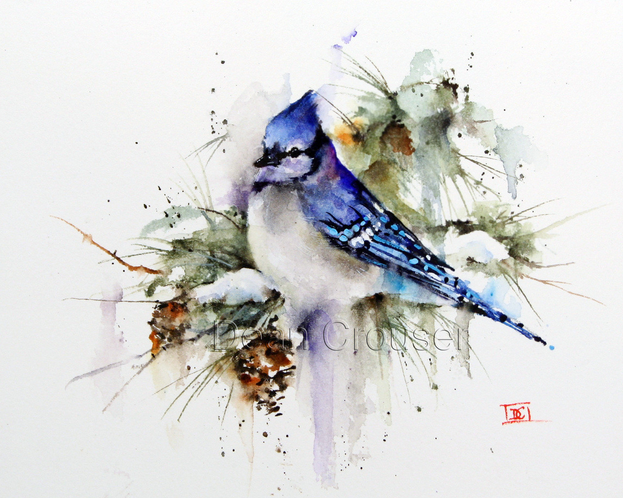 Winter Bluejay The Art Of Dean Crouser
