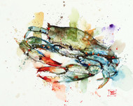 BLUE CRAB signed and numbered print from an original watercolor painting by Dean Crouser. This painting depicts a blue crab in Dean's loose, colorful style. Edition limited to 400 prints. Be sure to check out Dean's other nature and wildlife watercolor paintings!