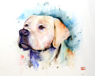 YELLOW LAB limited edition labrador dog print from an original watercolor painting by Dean Crouser. Signed and numbered. Edition limited to 400 prints. Please check out Dean's other wildlife and nature watercolor art!