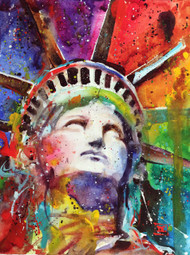 """LIBERTY"" limited edition Statue of Liberty print from an original watercolor painting by Dean Crouser. Signed and numbered, edition limited to 400 prints."