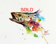 TROUT, Sketch Original Painting SOLD