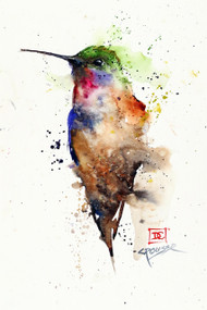 """TOPAZ"" signed and numbered limited edition giclee' print from an original hummingbird watercolor painting by Dean Crouser. Signed and numbered, edition limited to 400 prints. Also available in tiles, coasters, cutting boards and more."