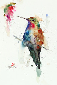 """AGATE"" hummingbird art from an original watercolor painting by Dean Crouser. Available in a variety of products including signed and numbered limited edition prints, ceramic tiles, greeting cards and more!"