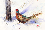 """BACKTRACK ROOSTER"" pheasant art from an original watercolor painting by Dean Crouser. Available in a variety of products including signed and numbered limited edition prints, ceramic tiles, greeting cards and more!"