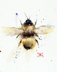 """BUMBLEBEE"" bee art from an original watercolor painting by Dean Crouser. Available in a variety of products including signed and numbered limited edition prints, ceramic tiles, greeting cards and more!"