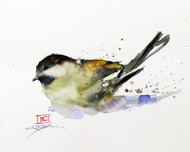 """CHICKADEE"" bird art from an original watercolor painting by Dean Crouser. Available in a variety of products including signed and numbered limited edition prints, ceramic tiles, greeting cards and more!"