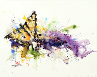 """""""INDULGENCE"""" butterfly and flower art from an original watercolor painting by Dean Crouser. Available in a variety of products including signed and numbered limited edition prints, ceramic tiles, greeting cards and more!"""