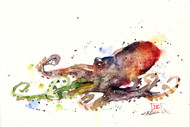 """OCTOPUS"" marine art from an original watercolor painting by Dean Crouser. Available in a variety of products including signed and numbered limited edition prints, ceramic tiles, greeting cards and more!"