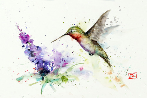 Hummingbird butterfly bush the art of dean crouser hummingbird butterfly bush from an original watercolor painting by dean crouser available m4hsunfo