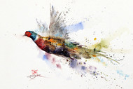 """PHEASANT, Sketch"" original watercolor painting by Dean Crouser. Measures approximately 10"" wide by 7"" tall. Here's an opportunity to own a DC original! Artist retains all rights to future use of this painting."