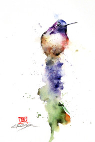 """""""KING of the HILL"""" signed and numbered limited edition hummingbird print by Dean Crouser. Prints are limited to edition size of 400. Available in a variety of products including greeting cards, ceramic tiles and coasters and more. Thanks for looking!"""