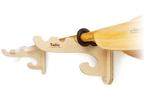 wood kayak paddle wall rack