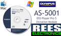 Olympus AS-5001 DSS Player Pro Dictation Software