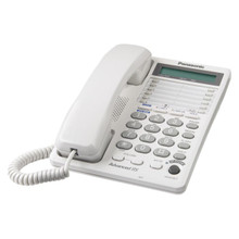 Panasonic KX-TS208W Wall Mountable 2-Line Corded Phone