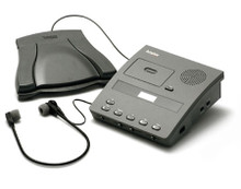 Dictaphone DTP-3742 Transcriber Microcassette ExpressWriter with Headset & Foot Pedal
