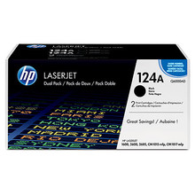 HP 124A Black Dual Pack LaserJet Toner Cartridges