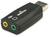 Manhattan High-Speed USB 3-D Sound Adapter
