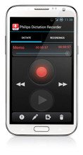 Philips LFH0747 SpeechExec Dictation Recorder App for Android