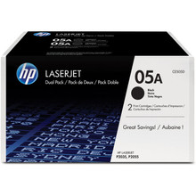 HP LaserJet 05A (CE505D) Dual Pack Black Toner Cartridge