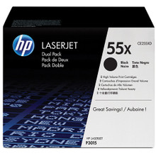 HP LaserJet 55X (CE255XD) Dual Pack High Yield Black Toner Cartridge