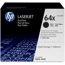 HP LaserJet 64X (CC364XD) Dual Pack High Yield Black Toner Cartridge
