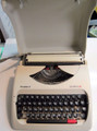Vintage Olympia Traveller C Portable Manual Typewriter with Lid and Handle