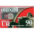 Maxell UR 90-Minute Audio Cassette Tape Normal Bias