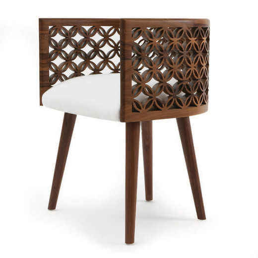 Arabesque dining chair for Wooden dining chair designs