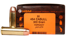 HSM 454 Casull 300gr HP/XTP Ammo - 50 Rounds