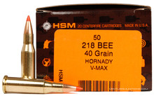 HSM 218 Bee 40gr V-MAX™Ammo - 50 Rounds